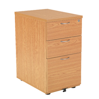 FF Jemini Oak 3 Drawer Under-Desk Ped