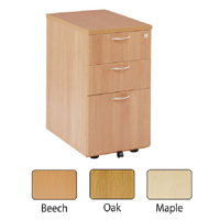 FF Jemini Maple 3 Drawer Under-Desk Ped