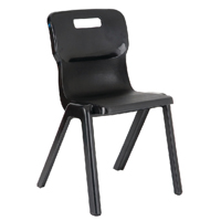 Titan One Piece Chair 350mm Charcoal