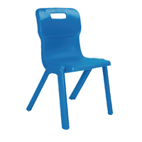 Titan One Piece Chair 430mm Blue KF72170
