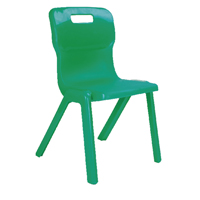 Titan One Piece Chair 430mm Green KF72171