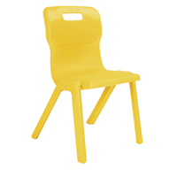 Titan One Piece Chair 430mm Yellow KF72173