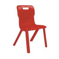 Titan One Piece Chair 460mm Red KF72174