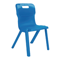 Titan One Piece Chair 460mm Blue