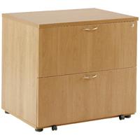 FF Arista Oak Desk High Side Filer