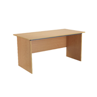 FF Jemini Beech 1500mm Panel End Desk