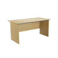FF Jemini Oak 1500mm Panel End Desk