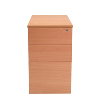 FF Jemini Intro Desk High Ped D800 Beech