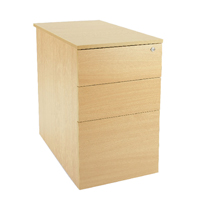 FF Jemini Intro Desk High Ped D800 Oak