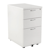 FF Jemini 3Drw Desk Hi Pedestal 800D Wh