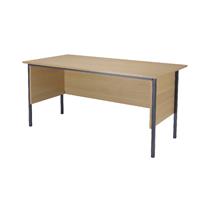 FF Jemini Oak 1500mm 4 Legged Desk