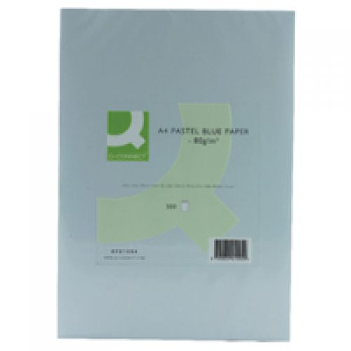 Q-Connect Blue Coloured A4 Copier Paper 80gsm Ream (Pack of 500)