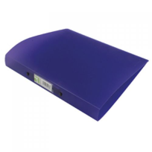 Q-Connect 2 Ring Frosted Purple A4 Binder KF02486
