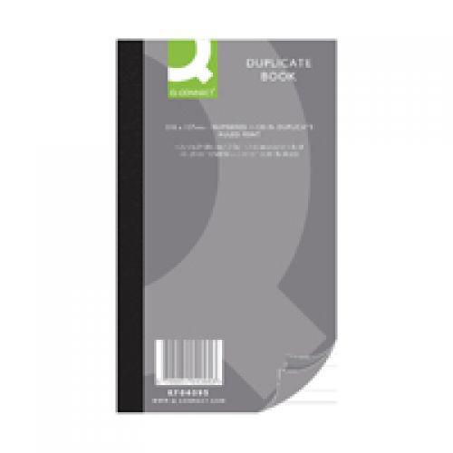 Q-Connect Ruled Feint Duplicate Book 210x127mm KF04095