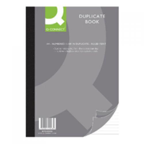 Q-Connect Duplicate A4 Book Ruled Feint
