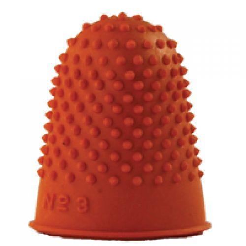 Q-Connect Orange Thimblette Size 3 (Pack of 12) KF21511