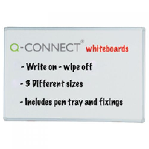 Q-Connect Aluminium Frame 1800x1200mm Whiteboard 54034623 KF37017