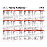Letts Yearly Calendar 2018 5-TYC