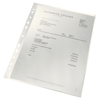 Leitz ReCycle Punched Pockets Pk100
