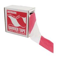 Flexocare Barrier Tape Dispenser 72mm x500m Red/White Polythene 7101001