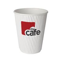 Mycafe 8oz Ripple Wall Hot Cups Pack of 500 HVRWPA08V