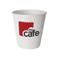 Mycafe 12oz Ripple Wall Hot Cups (Pack of 500 HVRWPA12V