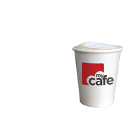Mycafe 8oz Single Wall Hot Cups HVSWPA08V