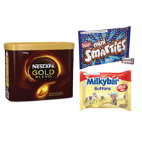 Nescafe Gold Blend 750g Buy 2 FOC Smarties Minis 260g and Milkybar Buttons Treat Size 189g NL819830