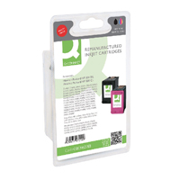 Q-Connect HP 300 Black / Colour Ink Cartridge (Pack of 2) CN637EE-COMP