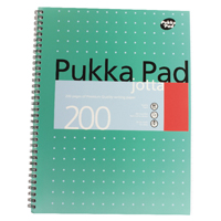 Pukka A4 Jotta Notebook Wirebound Feint Ruled 200 Pages (Pack of 3) JM018