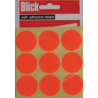 Blick Label Fluor Bag 29mm Red P36