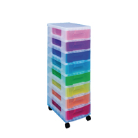 Really Useful Multicoloured Storage Tower With 8 Drawers DT1007