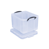 Really Useful Clear 35 litre Plastic Storage Box 35C