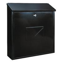 Firenze Black Metal Mail Box