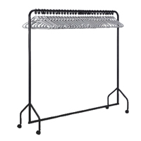 30 Hanger Garment Rail Black 311418