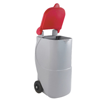 Red Recycling Wheelie Bin 90L Non-Lock