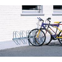 Wall/Floor Mounted Cycle Rack 4-Bike Alu