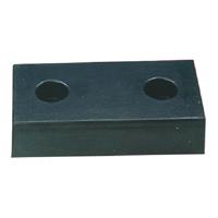 H/Duty Moulded 2 Hole Black Dock Bumper