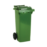 Green 2 Wheel Refuse Container 360 Ltr