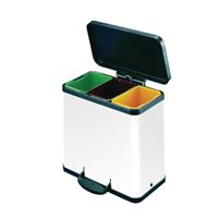 Trento Oko 3X11 Recycling Bin Wht
