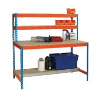 Workstation 1500x750mm Blue and Orange