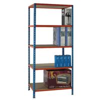 Blue/Orange 90x30cm Shelving Unit 378966