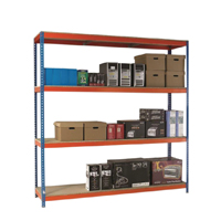 Orange/Zinc 2500X1500Xd450mm Shelving