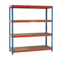 Orange/Zinc 2500X1500Xd750mm Shelving
