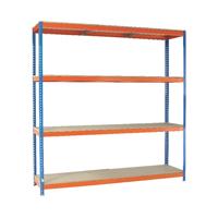Orange/Zinc 2000X1800Xd450mm Shelving