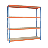 Orange/Zinc 2000X2400Xd750mm Shelving