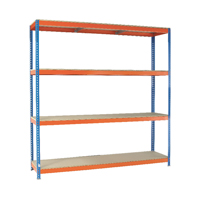Orange/Zinc 2500X2400Xd450mm Shelving