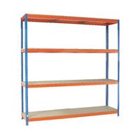 Orange/Zinc 2500X2400Xd600mm Shelving