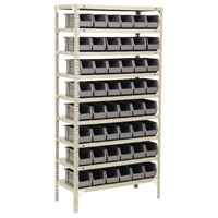 Bolt Kit 9 Shelf 40 Bin Grey Store Unit