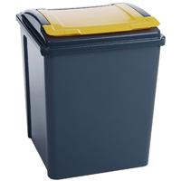 Vfm Grey/Yellow Recycling Bin/Lid Yellow